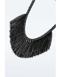 Urban Outfitters - Black Chain Fringe Necklace - Lyst