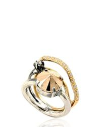 Iosselliani | Metallic Full Metal Jewels Ring | Lyst