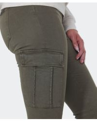 7 For All Mankind | Natural Skinny Cargo Pants | Lyst