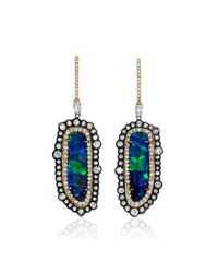 Kimberly Mcdonald | Blue Boulder Opal & Mixed Diamond Earrings | Lyst