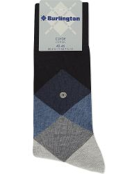 Smythson | Blue Clyde Diamond Socks, Men's, Dark Navy for Men | Lyst