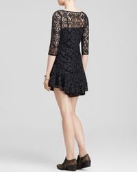Free People | Black Walking To The Sun Lace Dress | Lyst