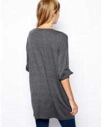 ASOS - Gray Oversized Tshirt - Lyst