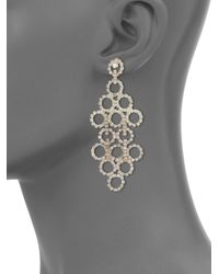 ABS By Allen Schwartz | Metallic Mixers Circle Chandelier Earrings | Lyst