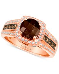 Le Vian | Brown Chocolate Quartz (1 Ct. T.w.) And Diamond (3/8 Ct. T.w.) Ring In 14k Rose Gold | Lyst