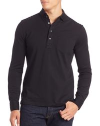 Polo Ralph Lauren | Black Cotton Polo Shirt for Men | Lyst