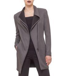 Akris Punto - Gray Long Jersey Moto Jacket - Lyst