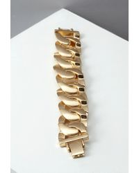 Forever 21 - Metallic Curb Chain Bracelet - Lyst