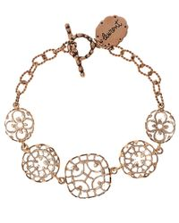 Laurent Gandini | Pink Rose Gold Rock Crystal Bracelet | Lyst