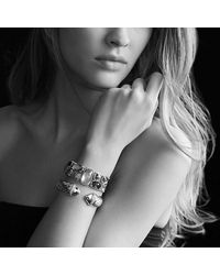 David Yurman | Metallic Waverly Cable Bracelet With Diamonds And Gold, 15mm | Lyst