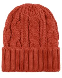 Jules B - Orange Cable Knit Wool Hat for Men - Lyst