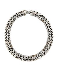 Janis By Janis Savitt - Metallic Silver-Tone Thick Chain Necklace - Lyst