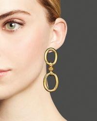 Roberto Coin | Metallic 18k Yellow Gold Double Oval Earrings | Lyst