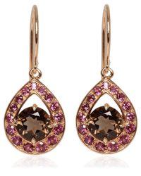 Dinny Hall - Pink Rose Gold Vermeil Smoky Quartz Paola Earrings - Lyst