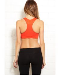 Forever 21 | Orange Low Impact Sports Bra | Lyst