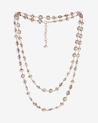 Ted Baker | Black Long Crystal Row Necklace | Lyst