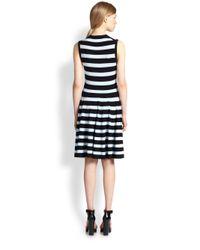 Michael Kors - Blue Jersey Stripe Dress - Lyst