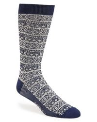 Sperry Top-Sider | Gray 'soft Extreme' Nordic Stripe Crew Socks for Men | Lyst