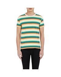 Saint Laurent - Blue Men's Striped Jersey T-shirt for Men - Lyst