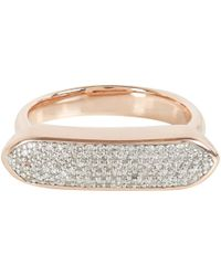 Monica Vinader - Metallic Rose Gold Vermeil Diamond Baja Ring - Lyst