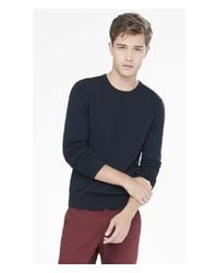 Express | Blue Merino Wool Crew Neck Sweater for Men | Lyst