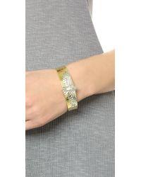 Pamela Love - Metallic Aguila Cuff Bracelet - Brass/silver - Lyst