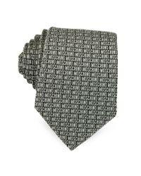 Moschino - Gray Signature Print Silk Jacquard Tie for Men - Lyst