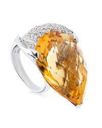 Tina Zafari - Orange Pear Ring - Lyst