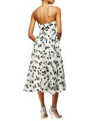 Lela Rose - White Floral Fil Coupe Dress - Lyst
