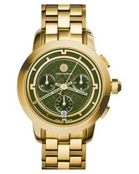 Tory Burch - Metallic 'tory' Chronograph Bracelet Watch - Lyst