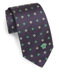 Versace - Blue Silk Diamond Neat Tie for Men - Lyst