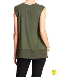 Banana Republic | Green Factory Sleeveless Colorblock Blouse | Lyst