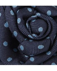 Charvet - Blue Dotted Silkfaille Lapel Flower for Men - Lyst