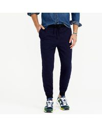 J.Crew | Blue Slim Quilted Sweatpant for Men | Lyst
