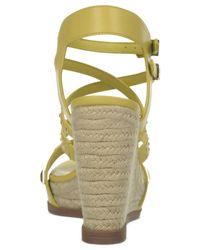 Fergie | Yellow Averie Espadrille Platiform Wedge Sandals | Lyst