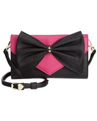 Betsey Johnson | Pink Macy's Exclusive Bow Wallet On A String | Lyst