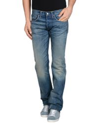 Pink Pony - Blue Denim Trousers for Men - Lyst