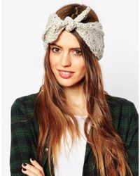ASOS - Natural Chunky Tie Front Headband - Lyst