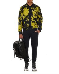 Alexander Wang | Yellow Reversible Graphic-Print Bomber Jacket for Men | Lyst