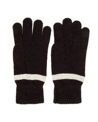 Ben Sherman - Black Striped Knit Gloves for Men - Lyst