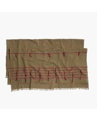 Madewell | Gray Striped Tassel Scarf | Lyst