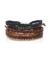River Island | Blue Navy Woven Bracelet Pack for Men | Lyst