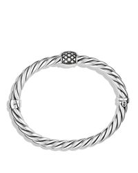 David Yurman | Metallic Cable Classics Narrow Bracelet With Diamonds | Lyst