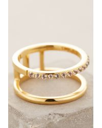 Elizabeth and James - Metallic Dylan Double Ring - Lyst