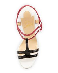 Christian Louboutin | Blue Double Tutti Tstrap Red Sole Sandal Multicolor | Lyst