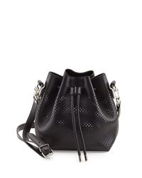 Proenza Schouler - Black Small Perforated Leather Bucket Bag - Lyst