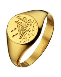 Alex Monroe | Metallic Ship At Sea Signet Ring | Lyst