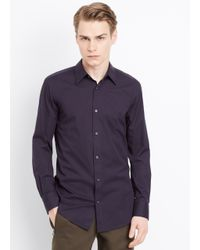 Vince | Blue Stretch Poplin Button Up for Men | Lyst