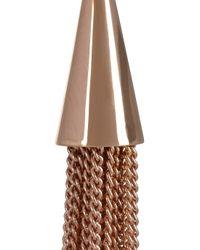 Eddie Borgo Metallic Rose Goldplated Tassel Earrings