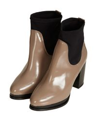 TOPSHOP - Natural Aeon Neon Gusset Chelsea Boots - Lyst